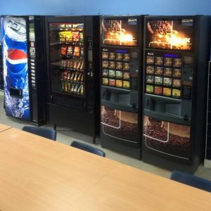 snack vending machine port talbot in a staff room